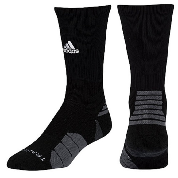 71ffa179e adidas Menace Crew Football Basketball Socks Black. NWT. adidas. $16 $999.  Size. M